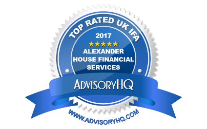 "Alexander House Financial Services Ltd has been ranked by AdvisoryHQ in the ""Top 13 Best Financial Advisers in the UK"" for 2017"
